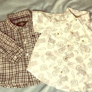 2 Collared Baby Button-downs